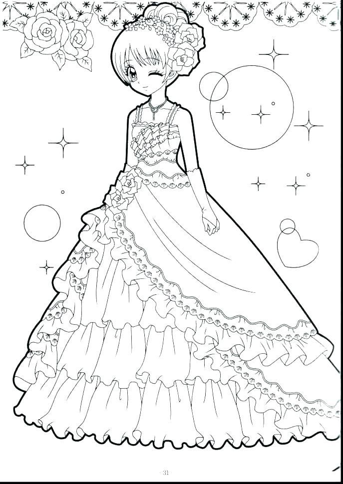 687x970 Coloring Pages Fashion Girls Professional