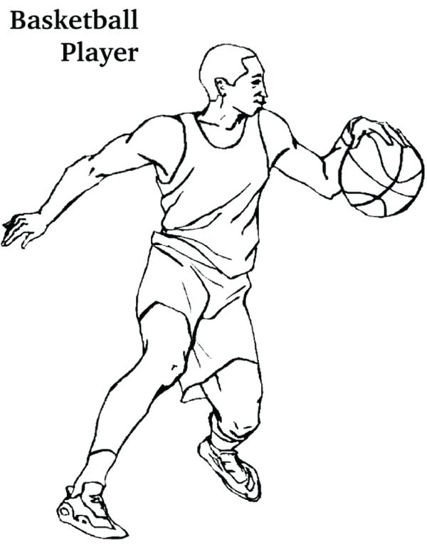 600x775 Basketball Player Coloring Pages Basketball Player Coloring Pages