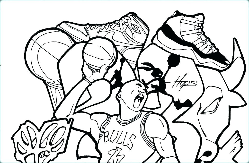 1024x671 Basketball Player Coloring Pages Girl Basketball Player Coloring