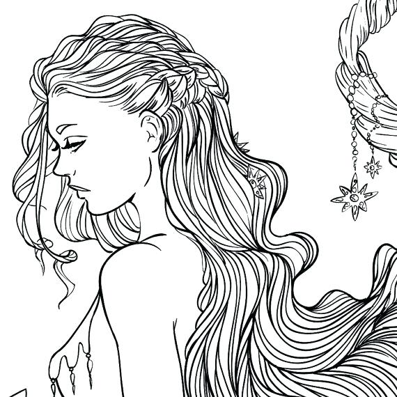 570x570 Female Coloring Pages Girl Hair Coloring Pages Best Of Female Body