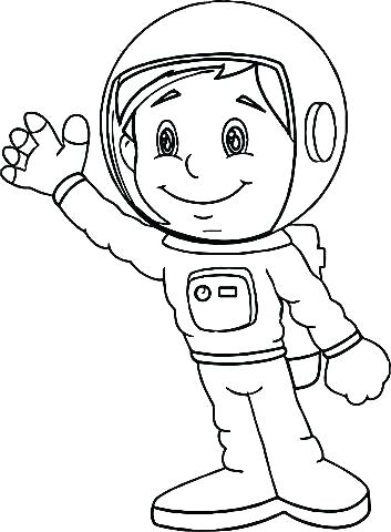 353x480 Astronaut Coloring Page Astronaut Coloring Page Girl Helmet Suit