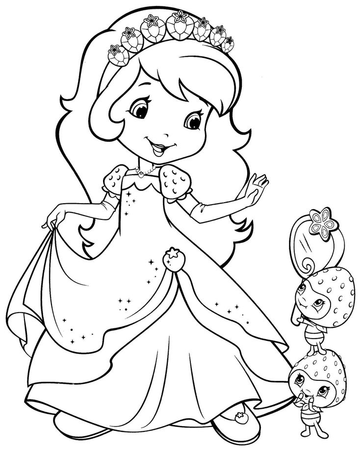 Girl Cartoon Coloring Pages