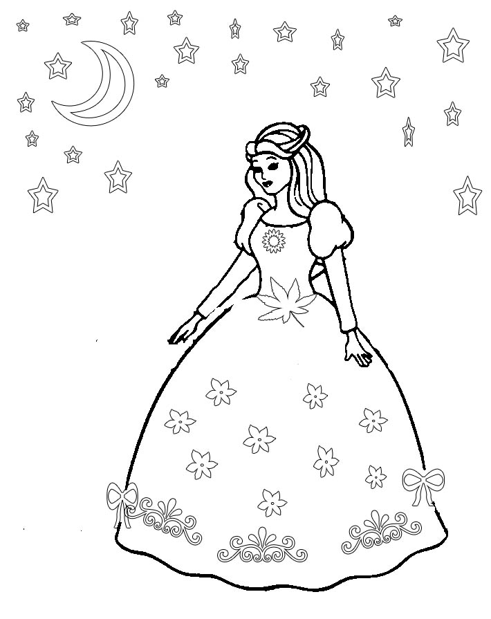 Girl Clothes Coloring Pages