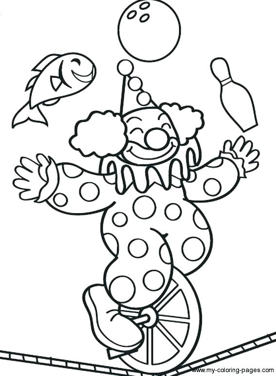 567x773 Clown Color Pages Girl Clown Coloring Pages Circus Clown Colouring