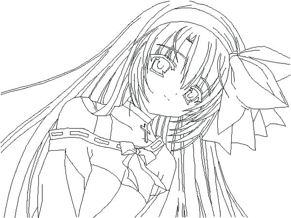 600x450 Anime Girl Coloring Pages To Print Anime Girl Coloring Pages