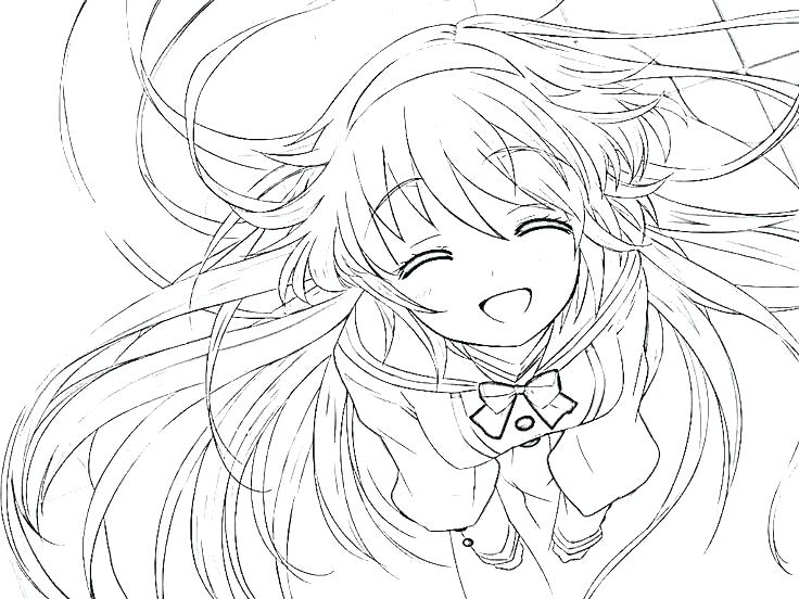 736x552 Anime Girls Coloring Pages Anime Girl Coloring Page For Kids