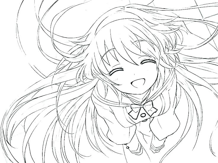 736x552 Cute Girl Coloring Pages Cute Anime Coloring Pages Cute Girl