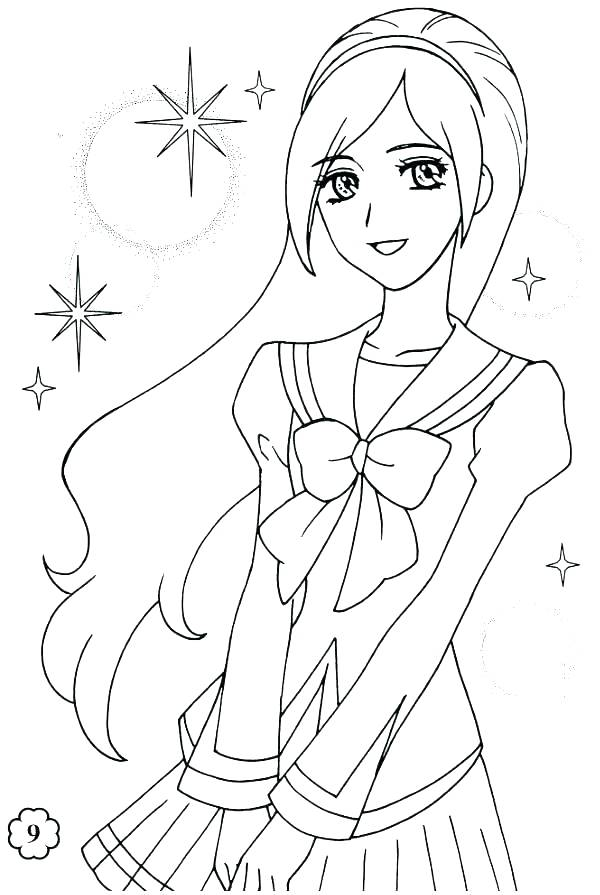 600x895 American Girl Coloring Pages Girl Coloring Pages Free Prettiest