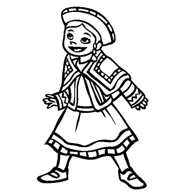 600x612 Girl Pictures To Color Coloring Book Pages Colored For Reading