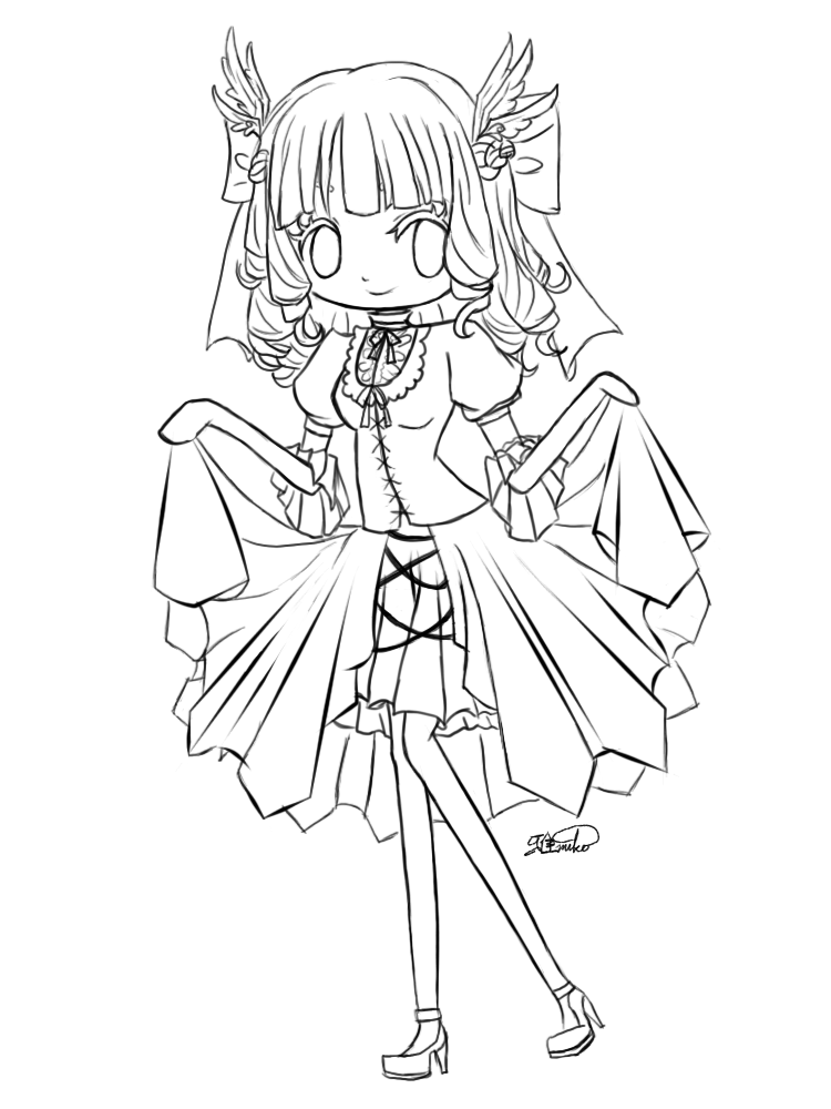 750x1000 Chibi Girl Crying Colouring Pages,cute Chibi Coloring Pages
