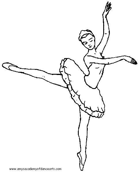 Girl Dancing Coloring Pages