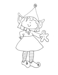 Girl Elf Coloring Page At Getdrawings Com Free For Personal Use