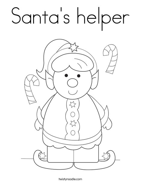 468x605 Santa's Helper Coloring Page