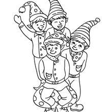 220x220 Christmas Girl Elf Coloring Pages