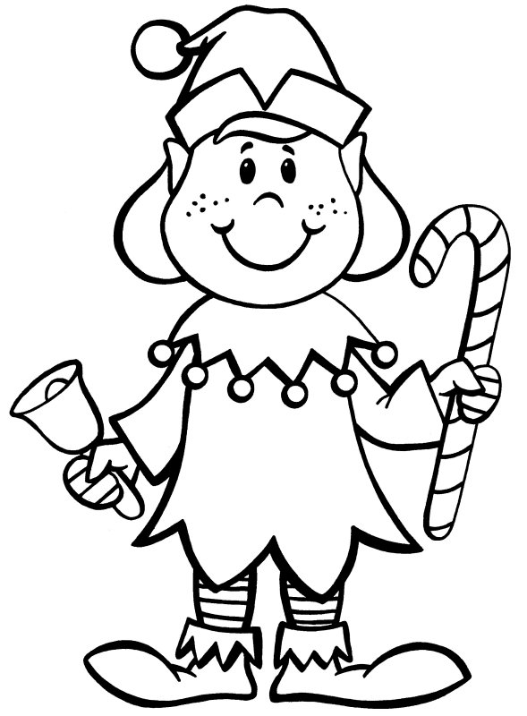 589x800 Elves Coloring Pages Elf Coloring Pages In Christmas Coloringstar