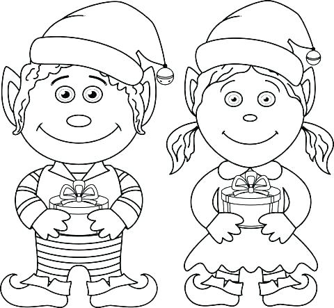 480x443 Cute Elf Coloring Pages Elf Coloring Page Elves Coloring Pages