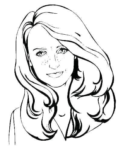 Girl Face Coloring Pages At Getdrawings Com Free For Personal Use