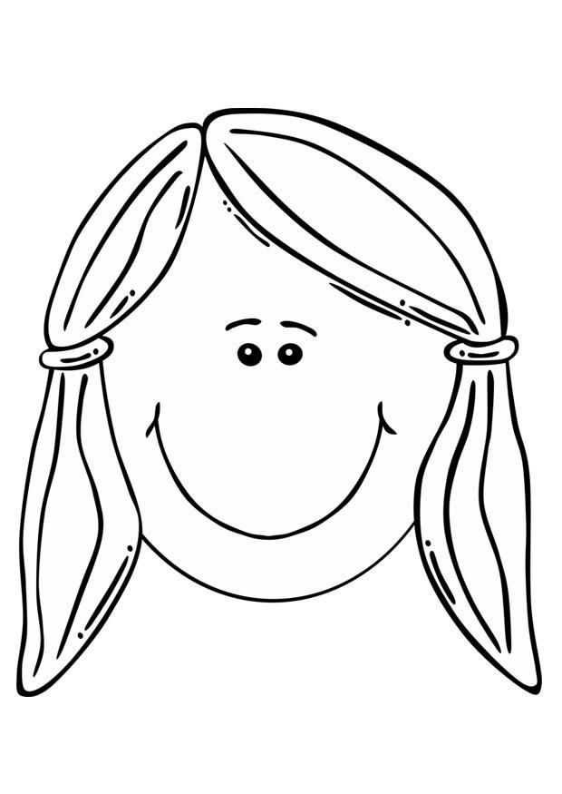 Girl Face Coloring Pages At Getdrawings Free Download