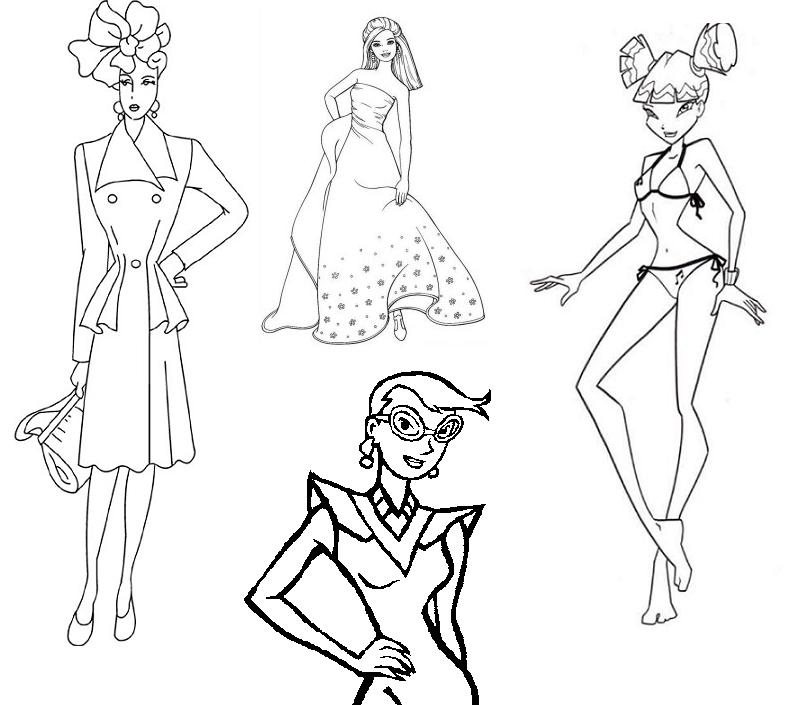 792x705 Coloring Pages For Teens Fashion Page Image Clipart Images
