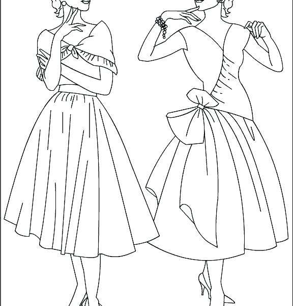 576x600 Fashion Coloring Pages To Print Fashion Coloring Pages Fashion