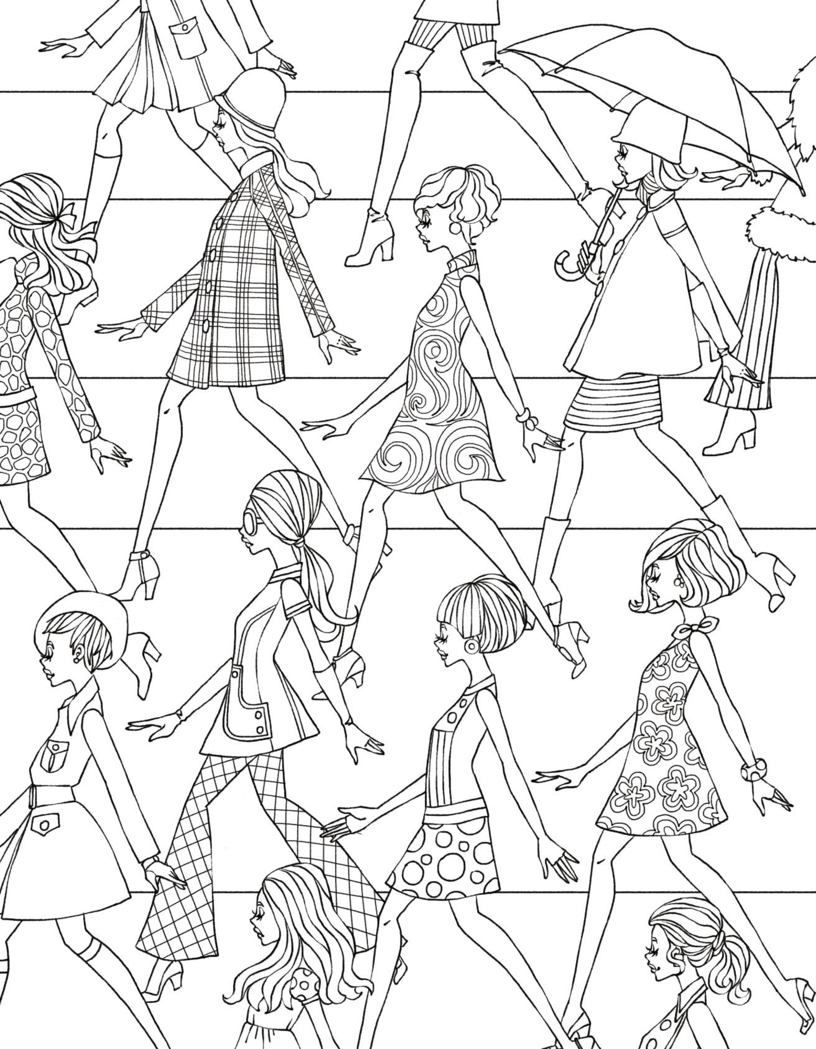 2625x3375 Barbie Fashion Fairytale Coloring Pages Online Mode Printable