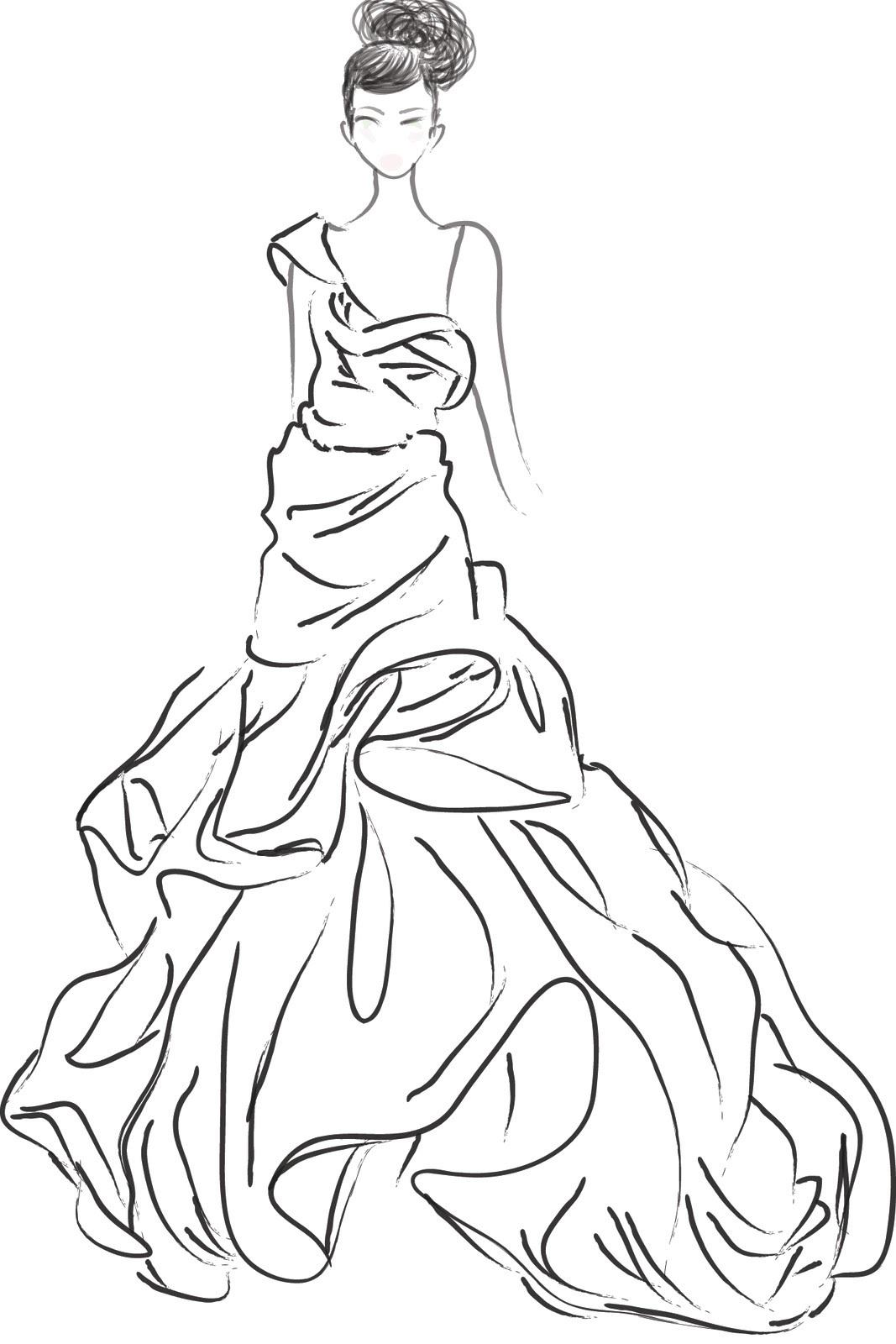 1067x1600 Printable Boho Style Fashion Girl Coloring Page Vector Free