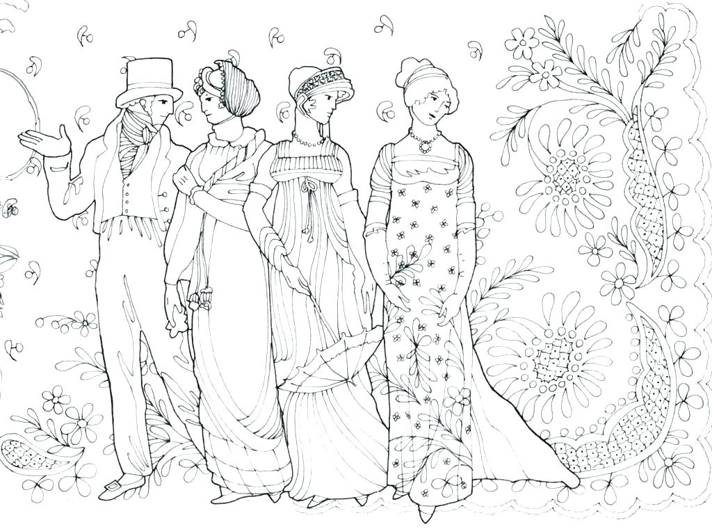 1024x761 Fashion Girl Coloring Pages