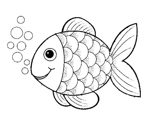 523x392 Coloring Fish Pages Rainbow Picture Color Fish Template