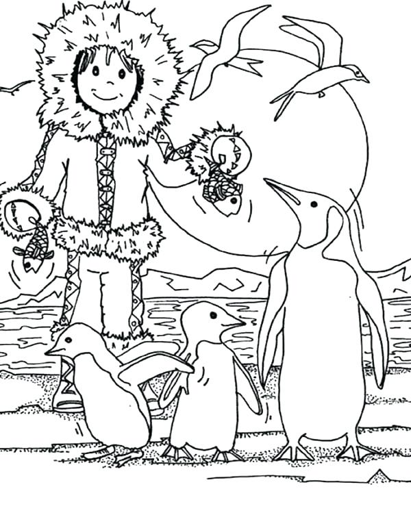 600x771 Eskimo Coloring Page Igloo Coloring Page With Igloo Is House