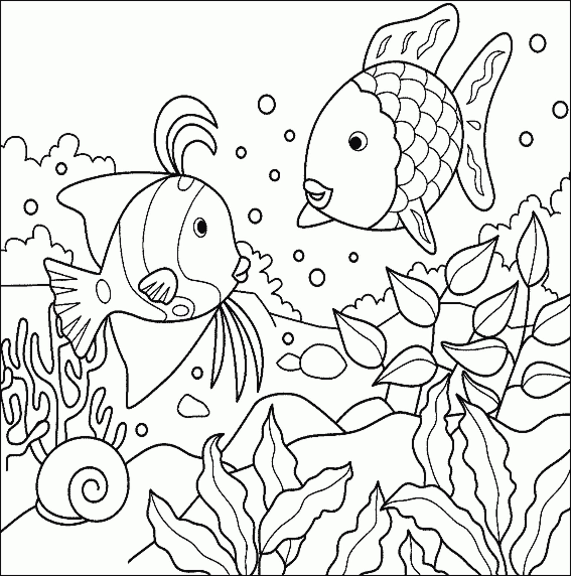 2000x2018 Fish Coloring Pages For Kids Acpra