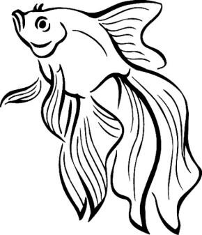 290x337 Girl Fishing Coloring Book
