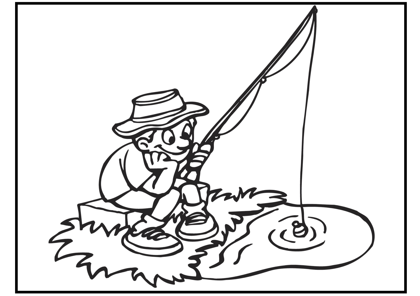 1754x1239 Little Girl Fishing Coloring Pages Google Search Artistic