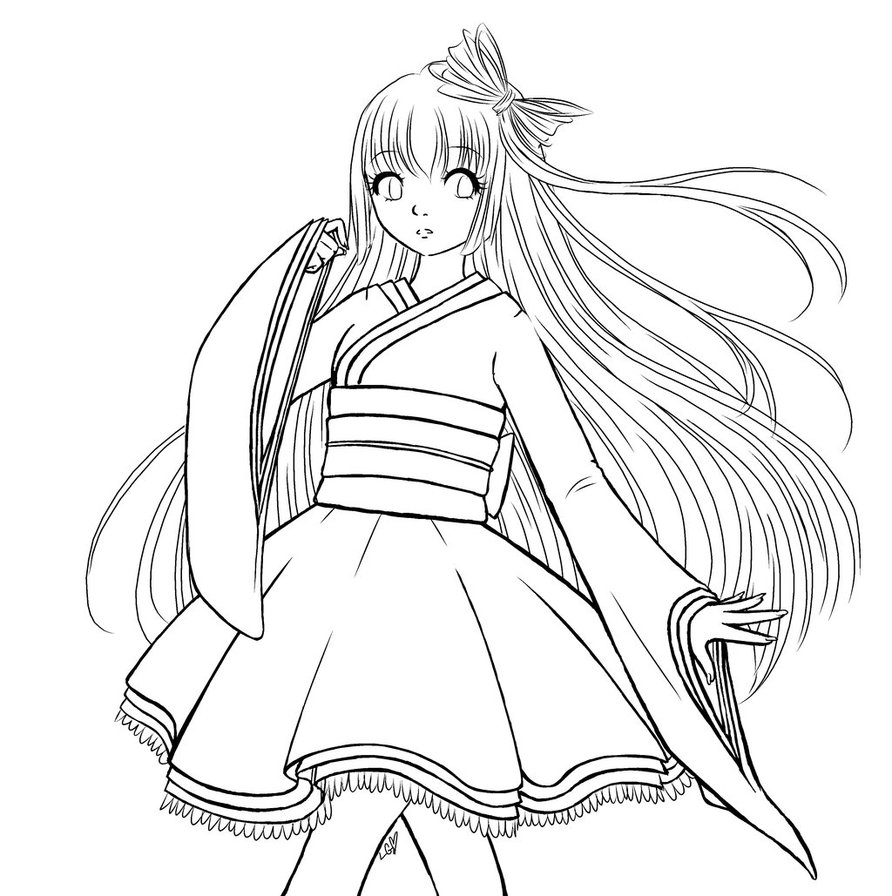 Girl Hair Coloring Pages At Getdrawings Com Free For Personal Use