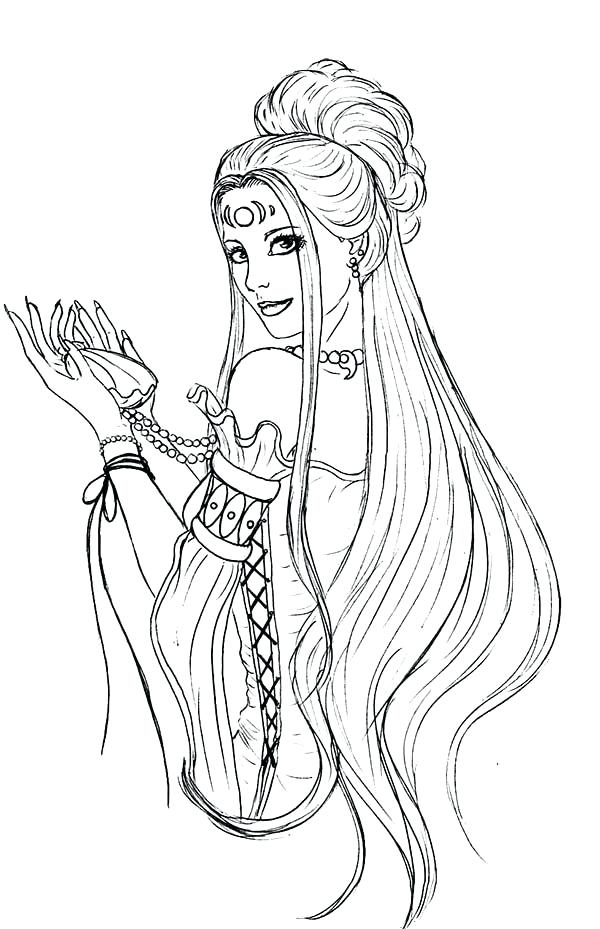 600x929 Domestic Longhair Cat Coloring Page Long Hair Coloring Pages