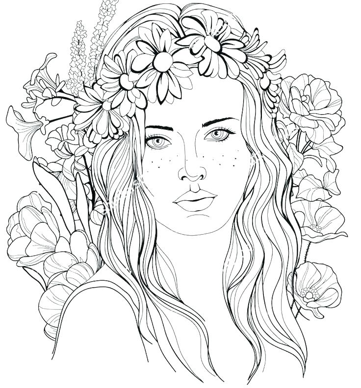 736x792 Girl Hair Coloring Pages Best Long Page Beautiful Women Photo