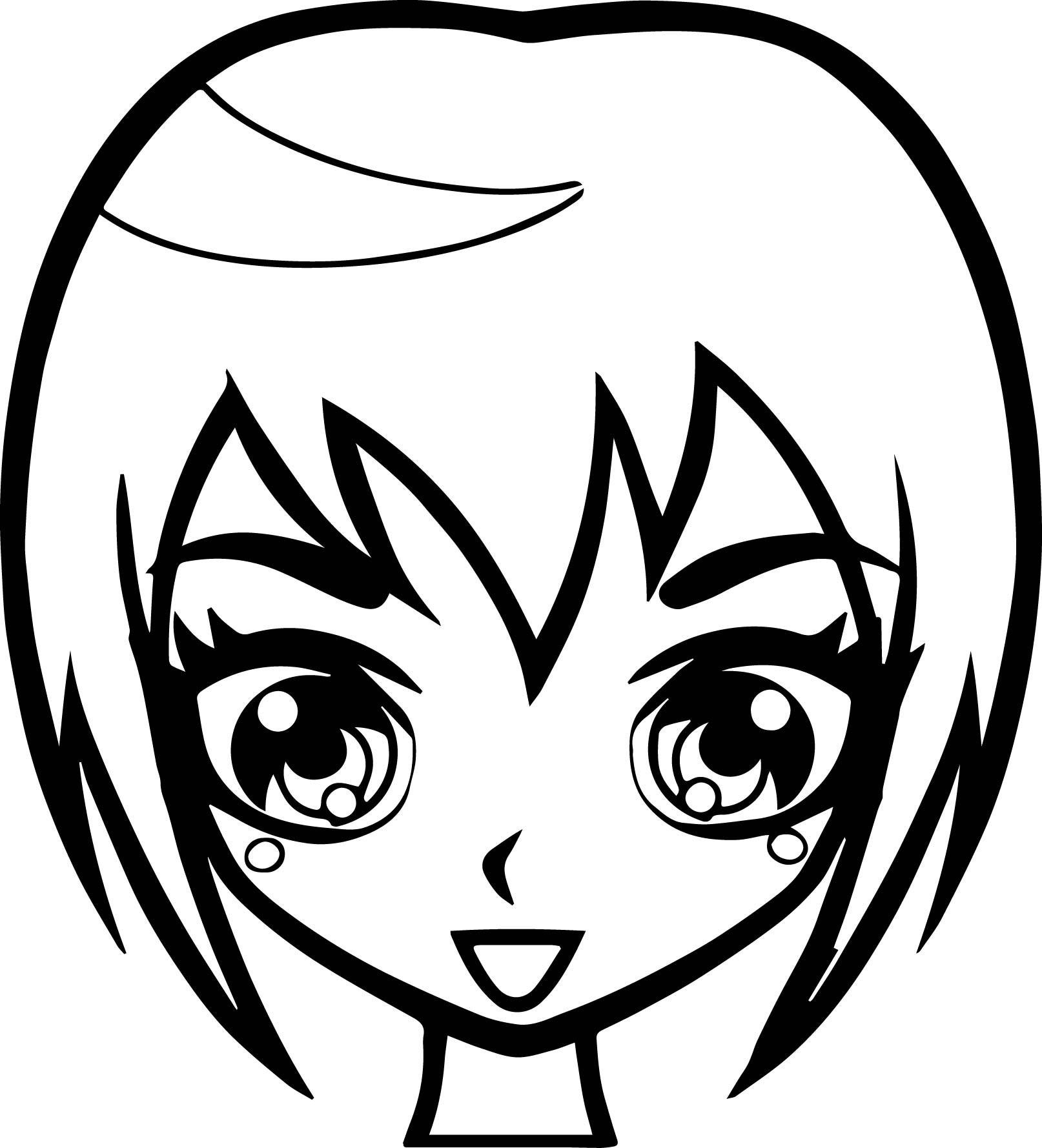 1614x1779 Girl Hair Coloring Pages Fresh Manga Short Hair Girl Face Coloring
