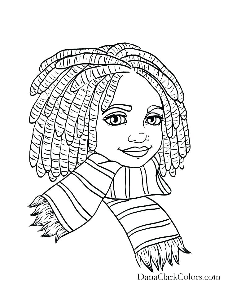 736x952 Hair Coloring Pages Crazy Hair Adult Coloring Page Combing Hair