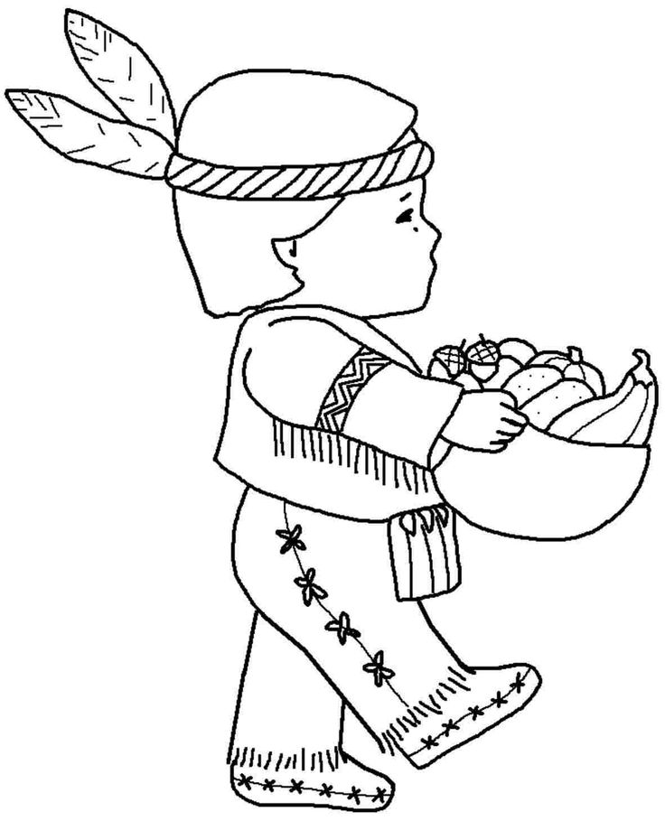 Girl Indian Coloring Pages