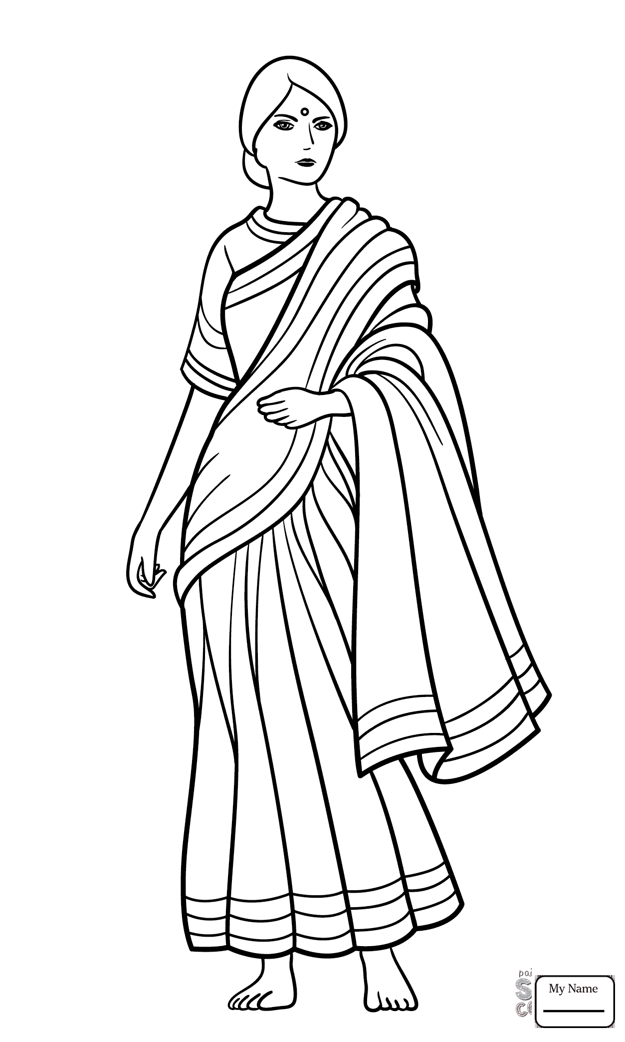 Girl Indian Coloring Pages At Getdrawings Com Free For