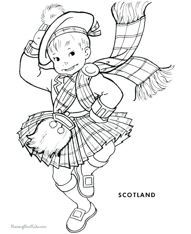 Girl Leprechaun Coloring Pages