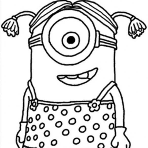600x600 Little Girl Coloring Pages Little Girl The Minion Coloring Pages