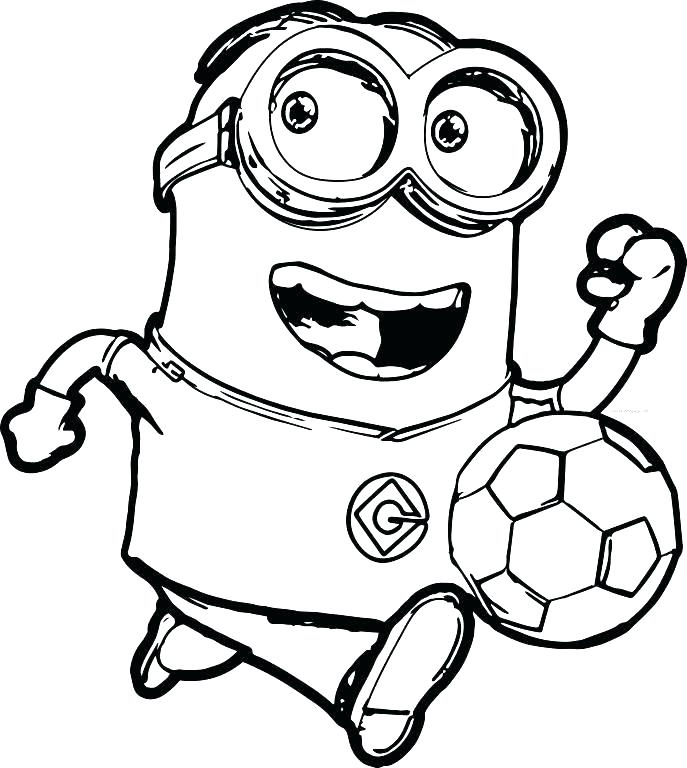 687x768 Minion Coloring Pages Free Coloring Pages Despicable Me Despicable