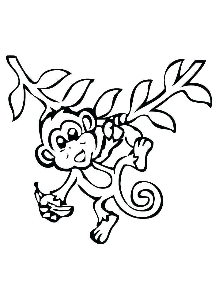 728x943 Five Little Monkeys Coloring Page S Baby Girl Monkey Coloring