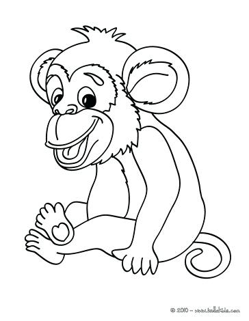 364x470 Monkey Color Page Monkey Picture To Color Coloring Page Animal