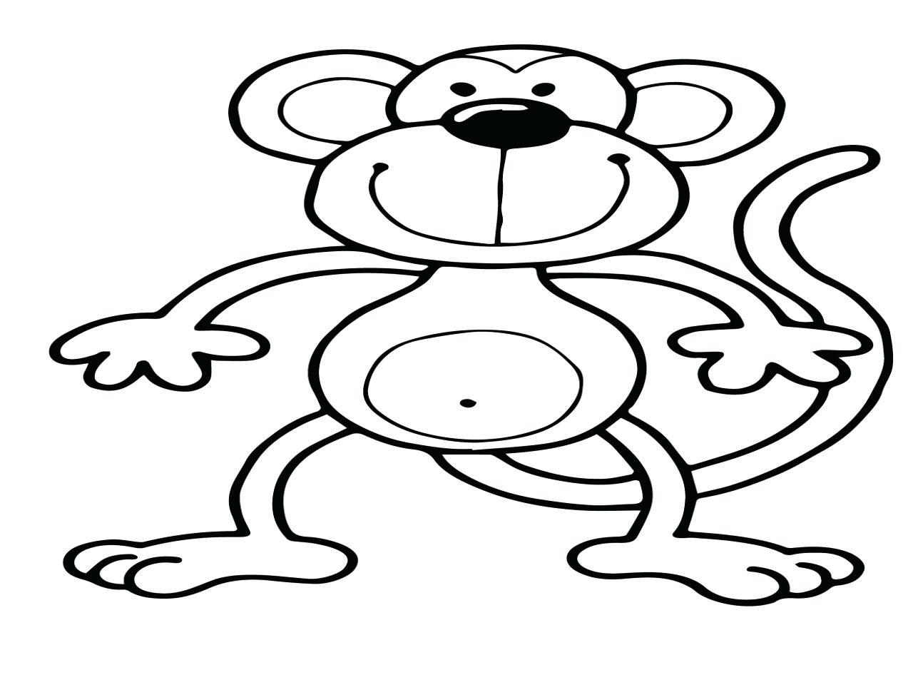 1280x960 Monkey Coloring Page Free Printable Sock Pages Clip Art Little