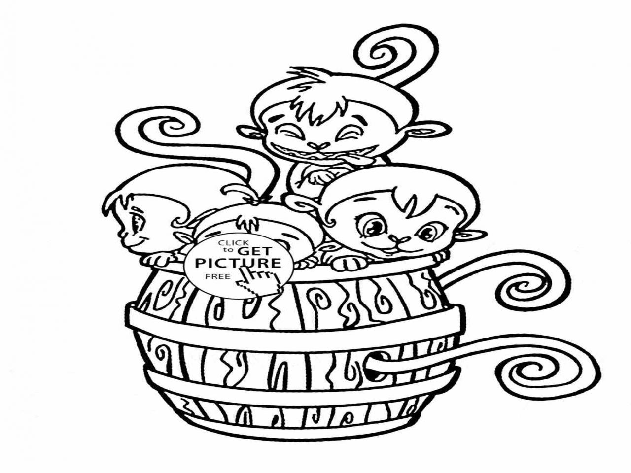 1280x960 Monkey Coloring Pages Monkeys Proboscis