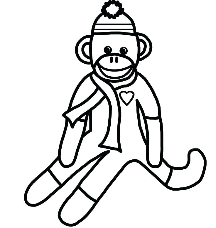 736x774 Monkeys Coloring Pages Funky Monkey Template Baby Girl Monkey