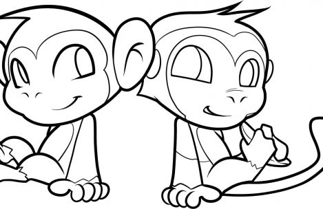 469x304 Baby Girl Monkey Coloring Pages Just Colorings
