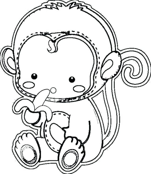 618x711 Coloring Pages Ba Monkey Coloring Pages Free Printable Ba Girl