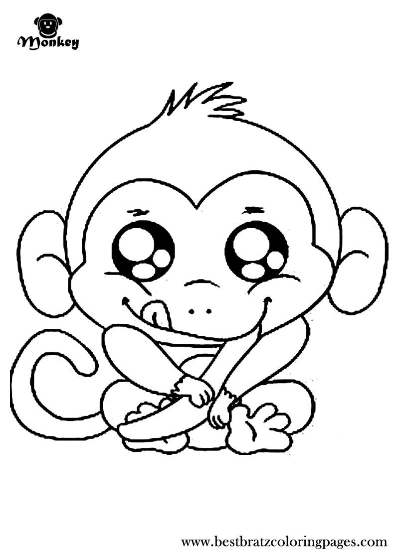800x1120 Baby Girl Monkey Coloring Pages